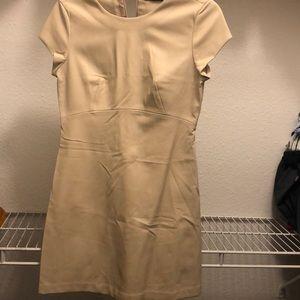 Stylish beige leather dress from Zara